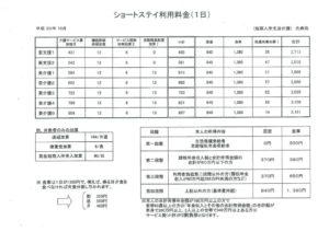ショートステイ光寿苑_料金表のサムネイル